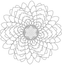 black and white online art geometric round vector image vector image