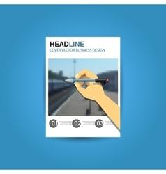 business brochure flyer design template a4 vector image vector image