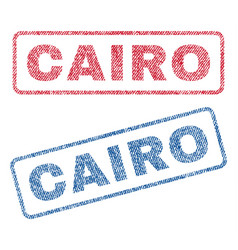 Cairo textile stamps vector