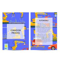 car manufacturing process concept set vector image