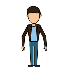 cartoon man male stand design vector image