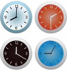 collection of clocks vector image