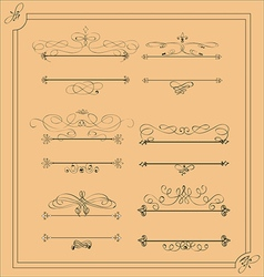 Decorative calligraphic design elements and page d vector image vector image