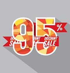 Discount 95 percent off vector