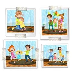 Family photos vector image vector image