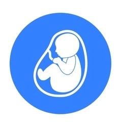 Fetus icon in black style isolated on white vector