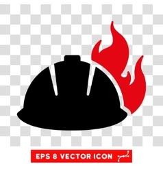 Fire helmet eps icon vector