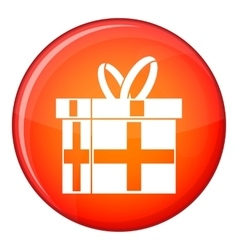 Gift in a box icon flat style vector image
