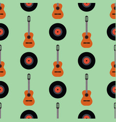 guitar icon stringed musical instrument vector image