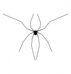 harvestman silhouette vector image vector image