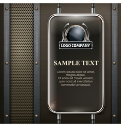 Industrial design banner vector image vector image