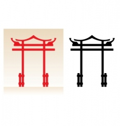 japan gate vector image vector image