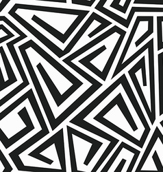 monochrome curve maze seamless pattern vector image