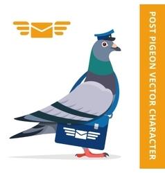 Pigeon postman character vector image vector image