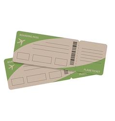 plane tickets couple vector image vector image