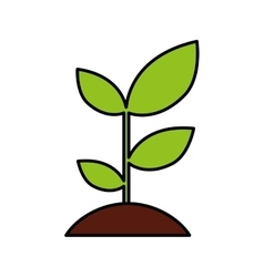 Plant ecology isolated icon vector