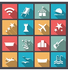 Rest and entertainment icons in flat design vector