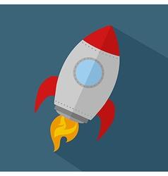 Rocket cartoon vector