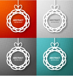 Set of Abstract Circles Paper Applique vector image