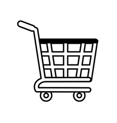 shopping cart online buying design outline vector image
