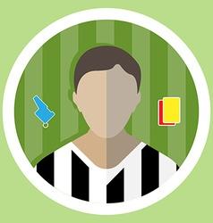 Soccer referee icon vector