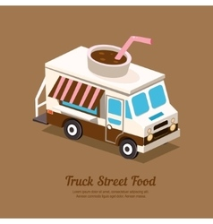 Truck coffee vector image