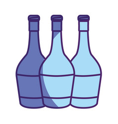 Wine bottles taste beverage vector