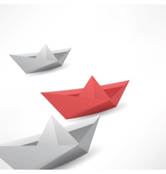 Winner red paper ship vector
