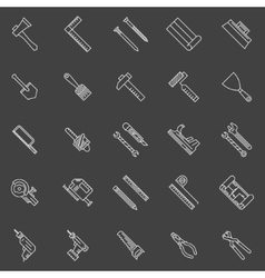 Work tools line icons vector