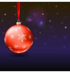 Greeting card with christmas balls and bright vector