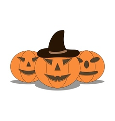 Three sinister pumpkins vector