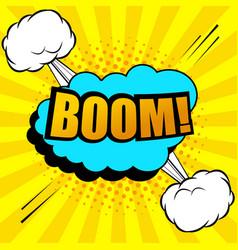 Comic book explosive background vector