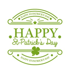 St patricks day emblem vector