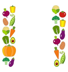 Healthy diet flat style with fresh organic vector image