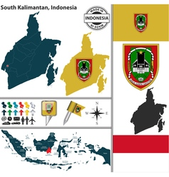 Map of south kalimantan vector