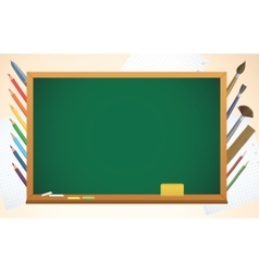 School background with blackboard pens and vector