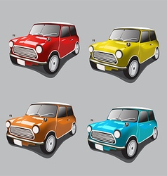 Vintage cars icons set vector