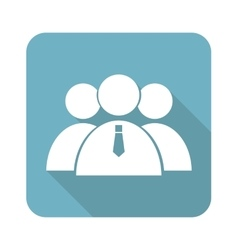 User group square icon vector