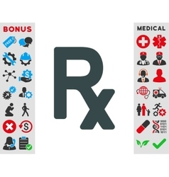 Prescription symbol icon vector