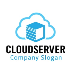 Cloud server design vector