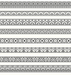 Design elements pompeian roman borders classical vector