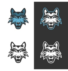 Wolf mascot for sport teams vintage vector