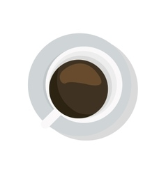 Coffee cup topview icon vector