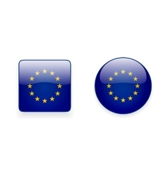 Icons with flag of the european union vector
