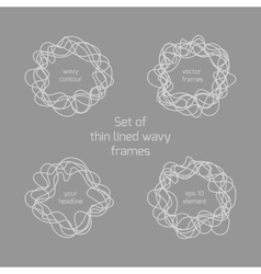 Abstract hand drawn thin lined wave in the shape vector image vector image