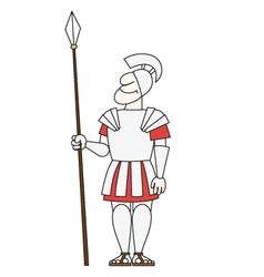 Ancient warrior pikeman vector image