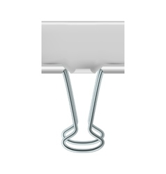 Binder clip icon realistic style vector