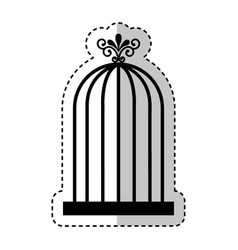 bird cage isolated icon vector image vector image