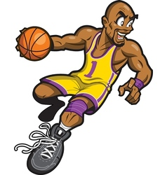 Black Basketball Player vector image