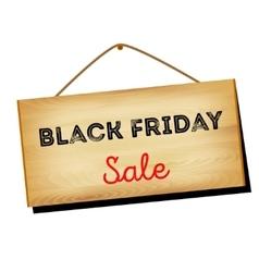 Black Friday sales A w vector image